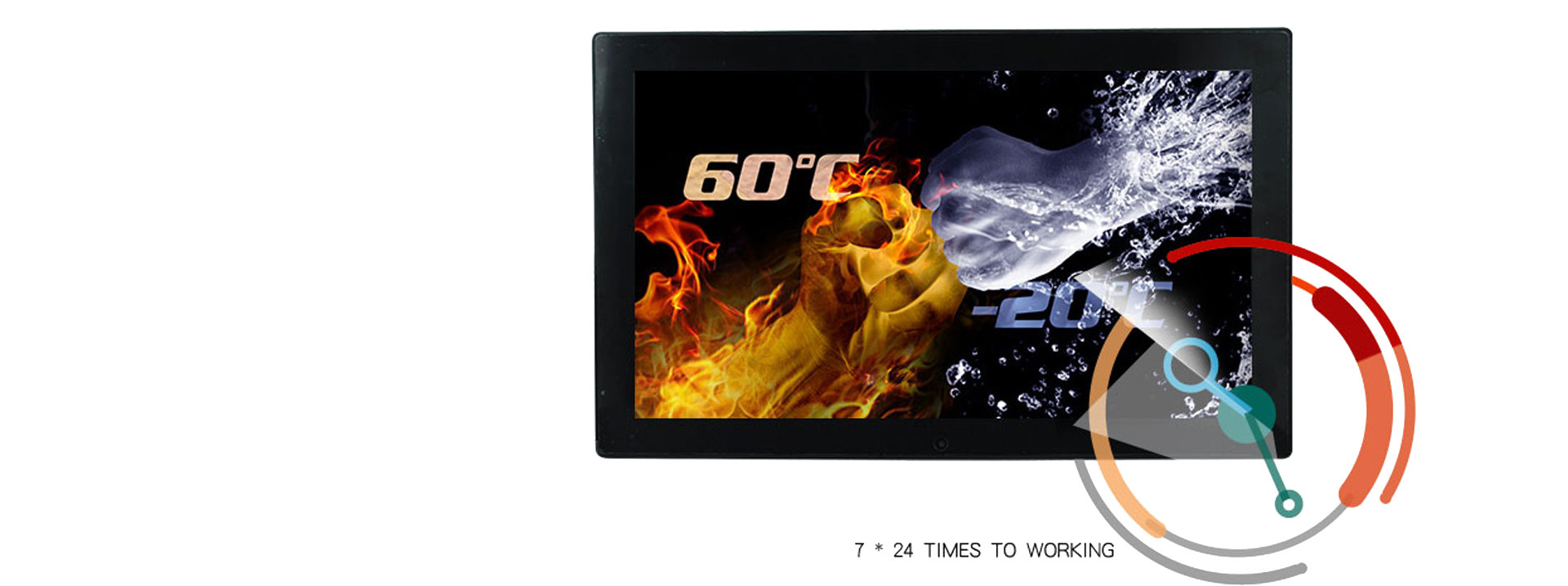 waterproof screen industrial lcd Hengstar Brand ip65 monitor supplier