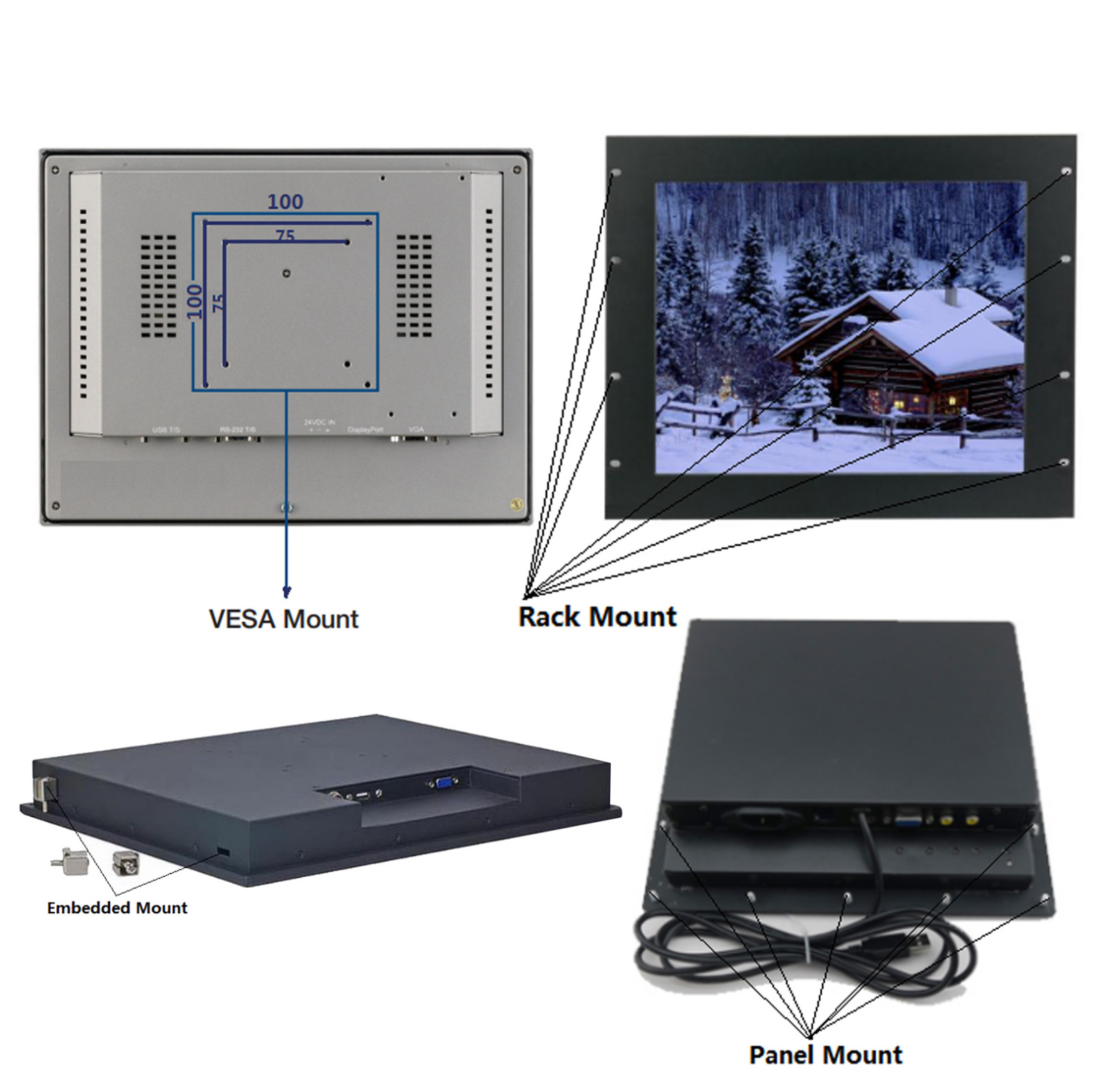 dvi touch industrial monitor screen Hengstar Brand